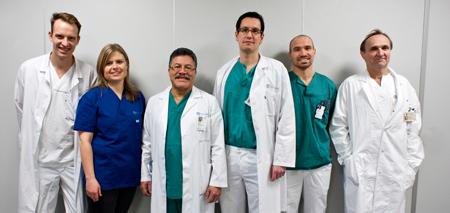 Gruppebilde: Nasjonal behandlingstjeneste for rekonstruktiv dyp venekirurgi.
