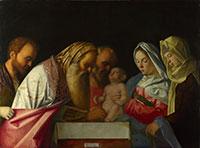 "Bilde 1. ""The Circumcision"", Giovanni Bellini, år 1500, The National Gallery, London, England."