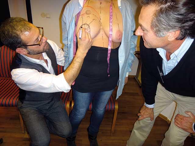 Bilde fra Nordisk Workshop i Oslo (Sept. 2012) med lærer Iain Brown (fra Cornwall), modell og Gudbrand Skjønsberg.