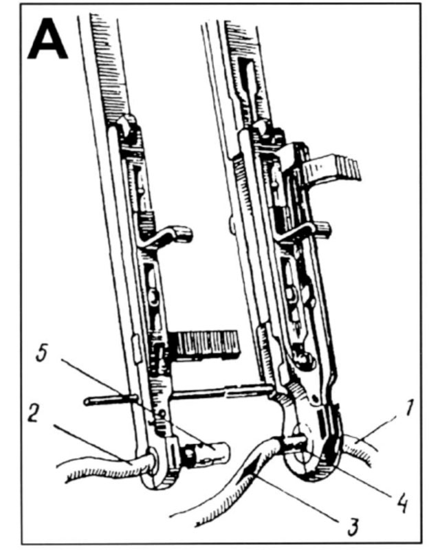 Fig 1. Kolesovs anastomose instrument