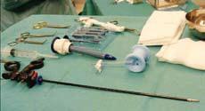 Figur 1: Forberedelse av utstyret preoperativt