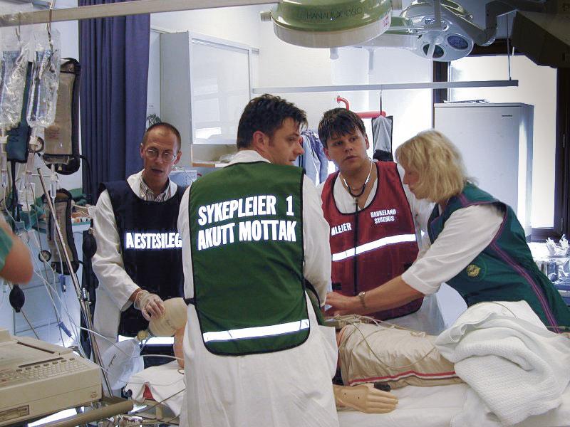 Figur 2. En tidlig BEST-trening ved Haukeland sykehus i 1999.